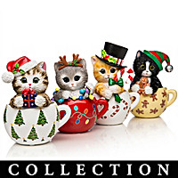 Kayomi Harai\'s Meow-y Christmas Cups Figurine Collection