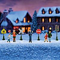 Winter Traffic Signs Train Accessory Set