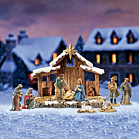 The First Noel Nativity Village Figurine Accessory Set