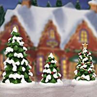 Whimsical Tree Set Village Accessory