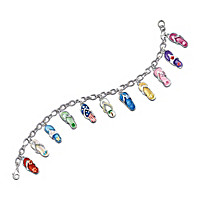 Flip Flop Fun Charm Bracelet