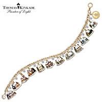 Thomas Kinkade Ultimate Village Christmas Charm Bracelet