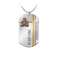 RCMP Dog Tag Pendant Necklace - French Wording