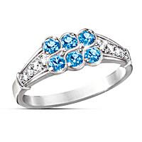 Blue Splendor Ring