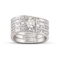 Hidden Message Of Love Diamond Ring