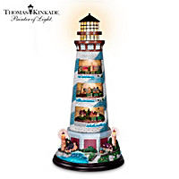 Thomas Kinkade\'s Tower Of Light Lighthouse Sculpture