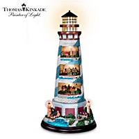 Thomas Kinkade\'s Tower Of Light Lighthouse Sculpture