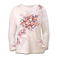 Lena Liu\'s Hope Blooms Breast Cancer Awareness Shirt