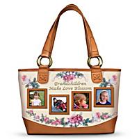 Grandchildren Make Love Blossom Tote Bag