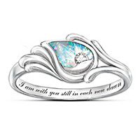 I Am With You Diamond And Created Opal Ring