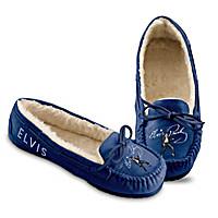 Blue Suede Shoes Moccasins