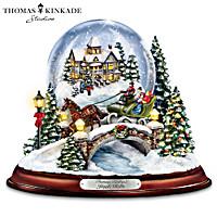 Thomas Kinkade Jingle Bells Snowglobe