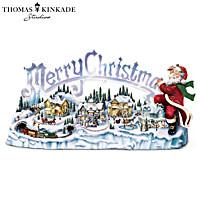 Thomas Kinkade Santa\'s Inspiration Figurine