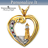 Thomas Kinkade Beacon Of Hope Personalized Pendant