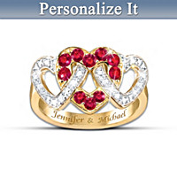 Love\'s Embrace Personalized Ring