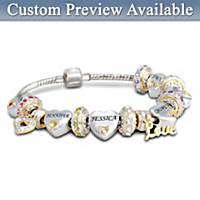 Forever In A Mother\'s Heart Personalized Birthstone Bracelet