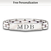 My Son, My Pride, My Joy Personalized Men\'s Bracelet