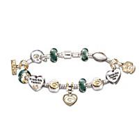 Go Packers! #1 Fan Charm Bracelet