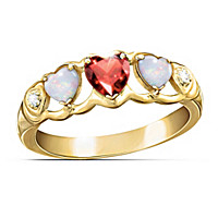 Loving Hearts Eternity Ring
