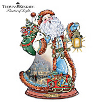 Thomas Kinkade Jingle Bells Santa Sculpture