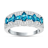 Blue Rhapsody Topaz And Diamond Ring