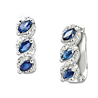 Celebration Sapphire And Diamond Earrings