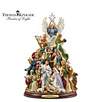Thomas Kinkade O Holy Night Tabletop Tree
