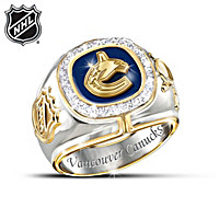 Vancouver Canucks® Diamond Team Men\'s Ring