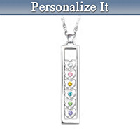 A Mother\'s Joy Personalized Pendant Necklace