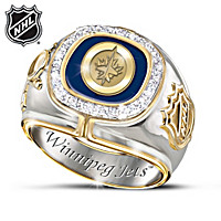 Winnipeg Jets™ Diamond Men\'s Ring