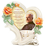 Saint Brother Andre Candleholder