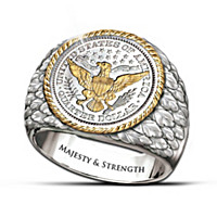 Barber Silver Coin Men's Ring