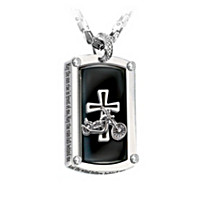 Biker\'s Blessing Pendant Necklace