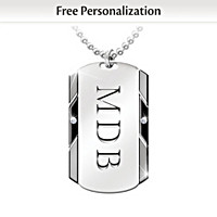For My Grandson Personalized Pendant Necklace