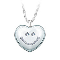 Granddaughter Smile Pendant Necklace