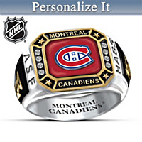 Montreal Canadiens® Personalized Men\'s Ring