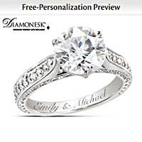 Love\'s Perfection Diamonesk Personalized Ring