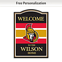 Ottawa Senators® Personalized Welcome Sign