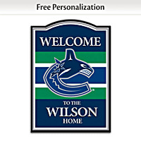 Vancouver Canucks® Personalized Welcome Sign