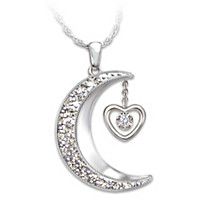 I Love You To The Moon And Back Pendant - French Wording