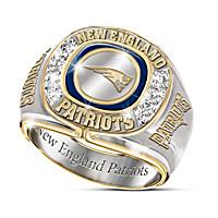 New England Patriots Diamond Ring