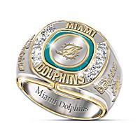 Miami Dolphins Diamond Ring