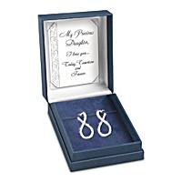 Forever My Daughter Diamond Earrings