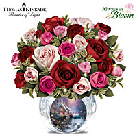Thomas Kinkade Today, Tomorrow, Always Table Centrepiece