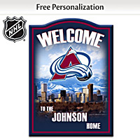 Colorado Avalanche® Personalized Welcome Sign