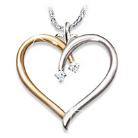 My Darling Granddaughter Diamond Pendant Necklace