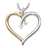 My Darling Granddaughter Diamond Pendant Necklace