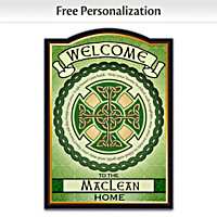 Blessings Of Ireland Personalized Welcome Sign