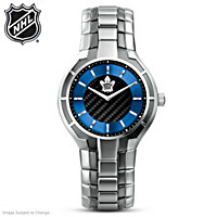 Toronto Maple Leafs® Carbon Fiber Men\'s Watch