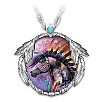 Spirit Of The West Painted Pony Pendant Necklace
